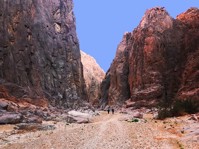קניון הגרניט ואדי אל-עין סיני, נודד מזרח סיני, ג'בל ברקה, טיול מטיפי לכת, סיני